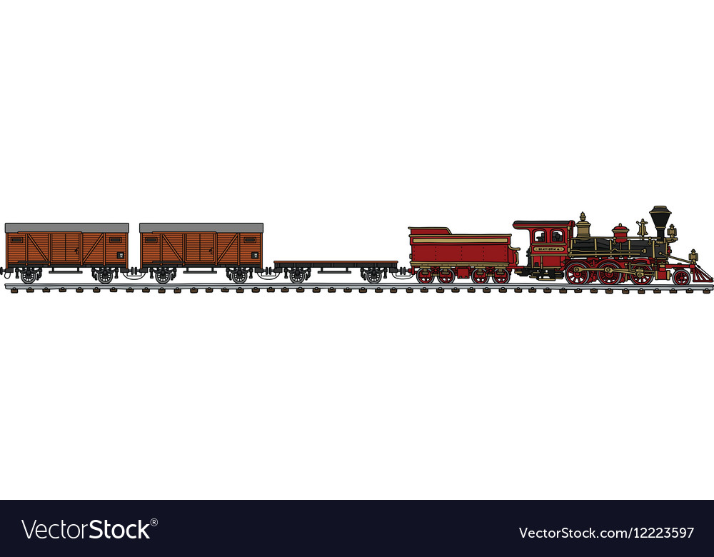 Classic american steam train vector