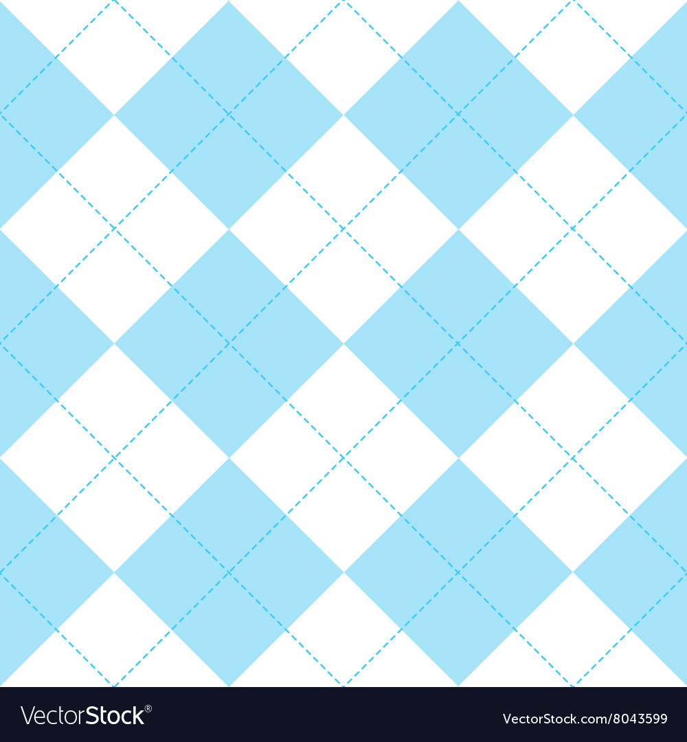 Blue white diamond background vector