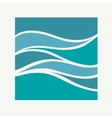 Water Wave Logo abstract design Square aqua icon vector image