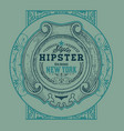 hipster card elements by layers vector image vector image