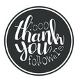 thank you black round label vector image
