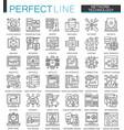 network technology outline concept symbols vector image