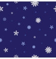 snow blue pattern vector image