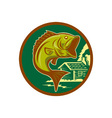 bass fishing icon vector image