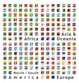 world flags web buttons vector image