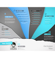 Creative resume template with paper stripes vector image vector image
