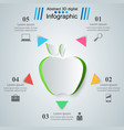 apple health - business infographic vector image
