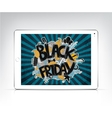 black friday banner showing in the screen vector image