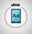 e-book concept design vector image