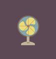 Flat Design Electric Fan vector image