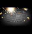 glow confetti light vector image