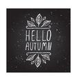 Hello Autumn - typographic element vector image