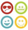 Emoji emoticons white icons vector image vector image