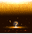 Glowing question mark with sparks vector image vector image