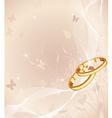 Wedding rings design vector image vector image