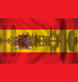 flag of spain with barcelona skyline vector image vector image