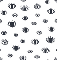 Eyes seamless pattern vector image