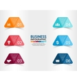 paper triangle stickers and labels with realistic vector image vector image
