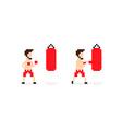 Pixel Boxer vector image