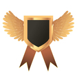 gold medal with wings vector image