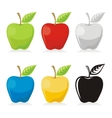 apple icons vector image