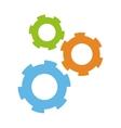 three gears icon vector image