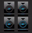 Black glass download progress bar vector image