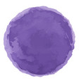 bright purple watercolor painted stain vector image