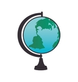 cartoon globe school icon design vector image