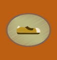 flat shading style icon footwear man shoe vector image