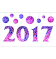 Inscription 2017 with mosaic balls vector image