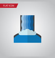 isolated waterfall flat icon cascade vector image