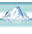 landscape snowy mountain design vector image