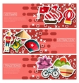 Set of Horizontal Banners about vietnam vector image