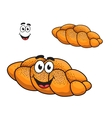 Gourmet plaited crusty loaf of bread vector image