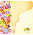 honey bees are the flowers vector image