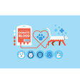 Animal Blood Donation vector image
