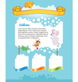 Cartoon kid web site vector image vector image