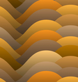 Abstract warm color waves vector image vector image