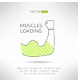 Arm with strong biceps loading muscles idea vector image