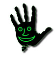 hand face vector image