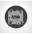 Photo frame black round icon vector image