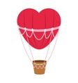 hear hot air balloon icon vector image