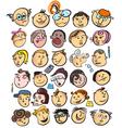 cartoon peoples faces vector image vector image