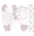 seamless background with roses vector image vector image