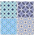 Set of 4 decorative mosaic seamless patterns vector image