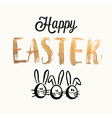 Happy easter cards with easter eggs easter bunny vector image