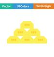 Gold bullion icon vector image vector image