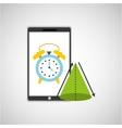 education online smartphone app clock geometry vector image