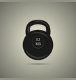 kettlebell icon in black and white colors vector image